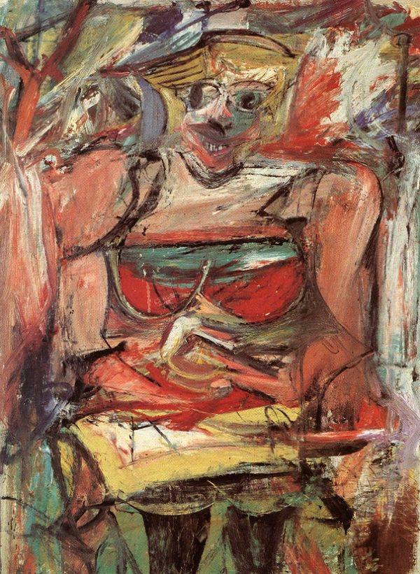 Willem de Kooning,  Woman V , 1952–53, National Gallery of Australia, Canberra.