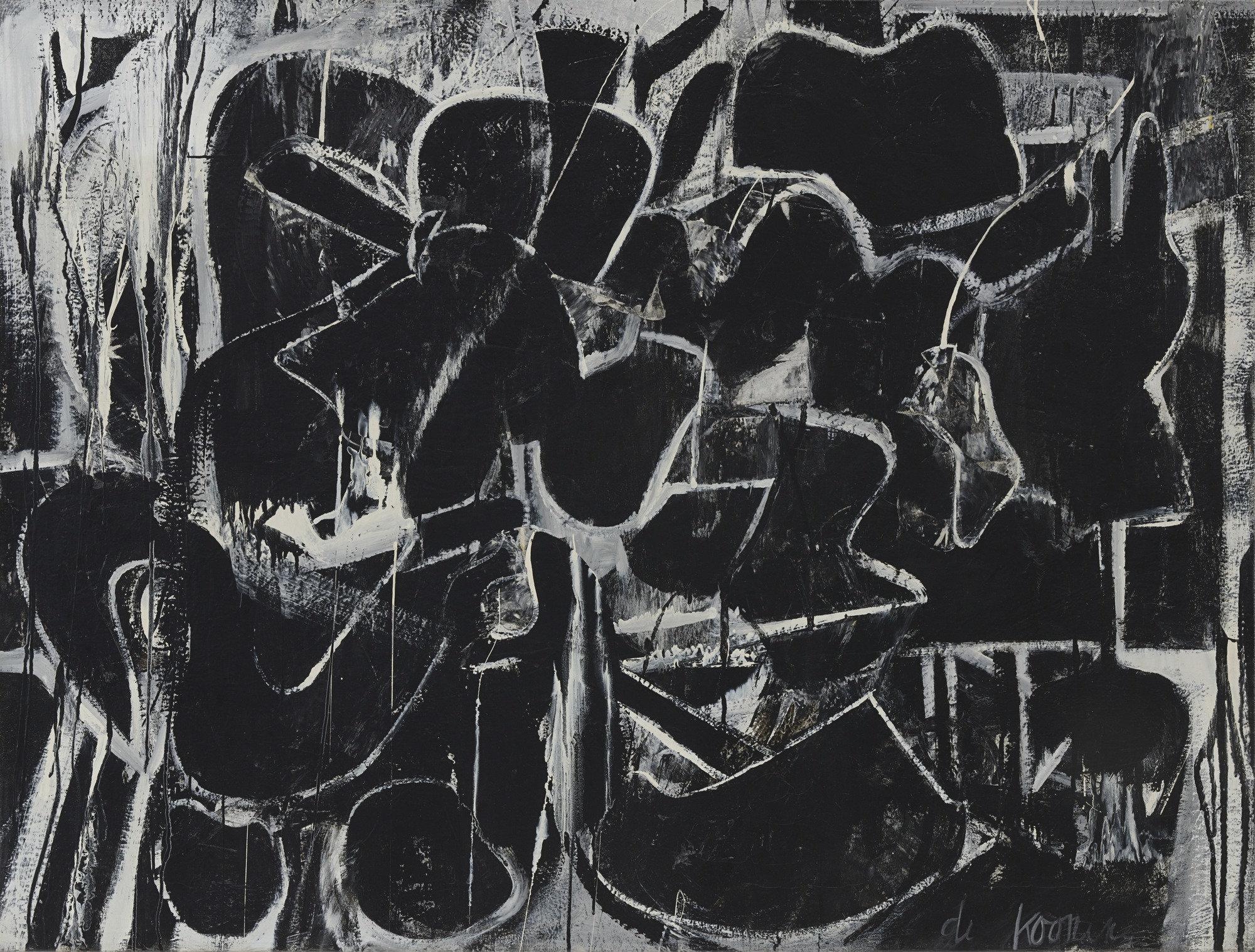 Willem de Kooning,  Painting , 1948, Museum of Modern Art, New York.