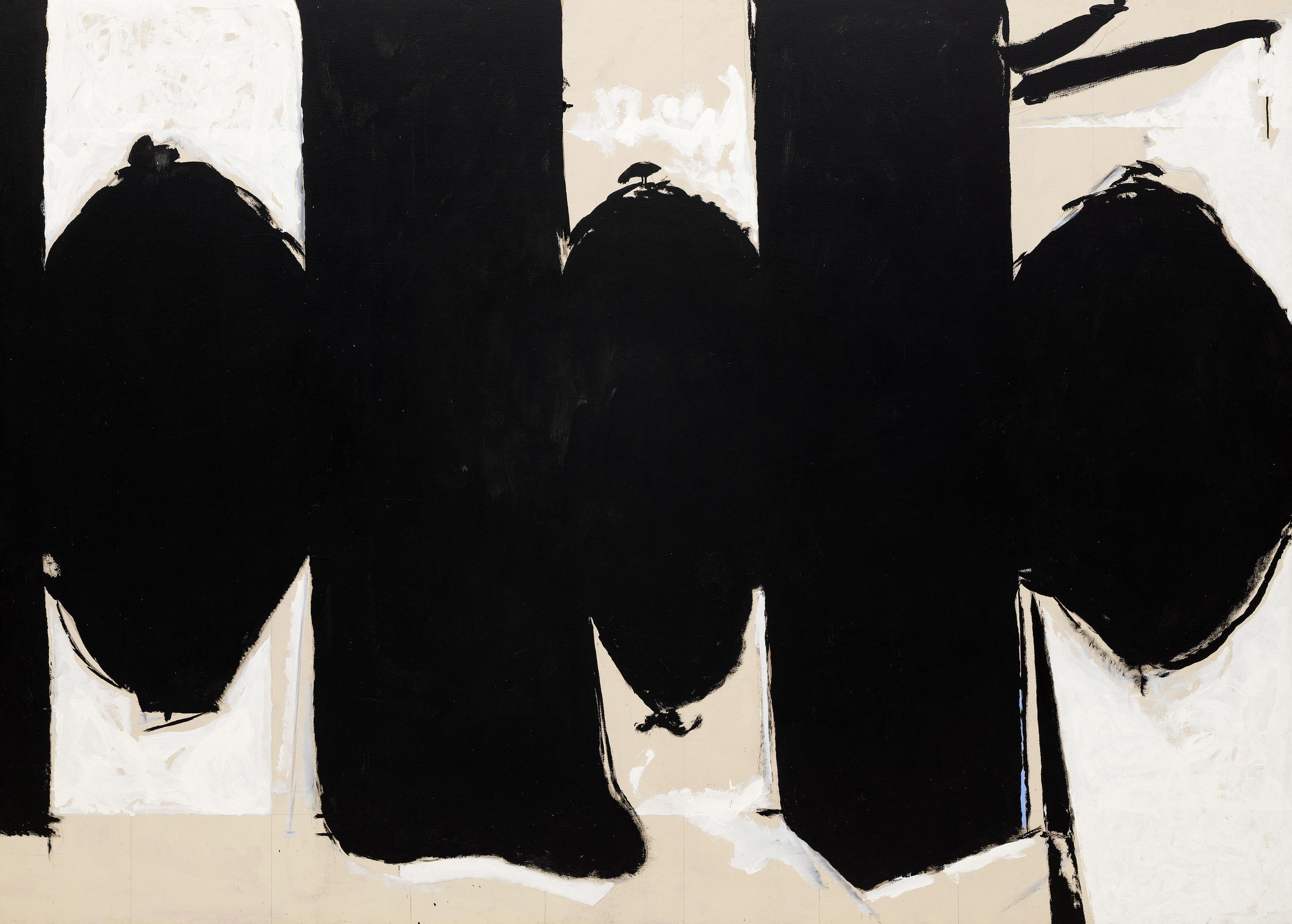 Robert Motherwell,  Elegy to the Spanish Republic No. 110 , 1971, Solomon R. Guggenheim Museum, New York.