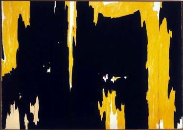 Clyfford Still,  1957-D No. 1 , 1957, Albright-Knox Art Gallery, Buffalo.