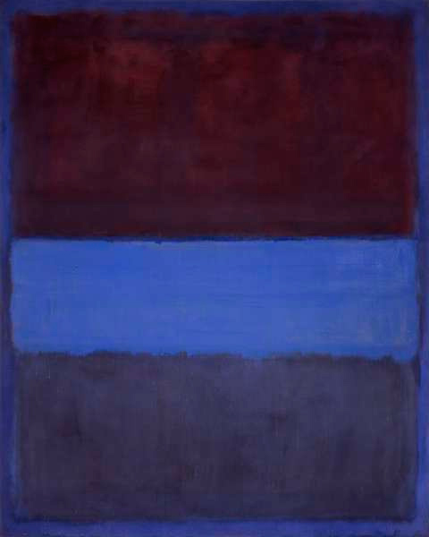 Mark Rothko,  No. 61 (Rust and Blue) , 1953, Museum of Contemporary Art, Los Angeles.