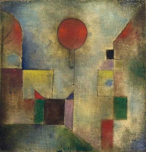 Paul Klee,  Red Balloon , 1922, Solomon R. Guggenheim Museum, New York.