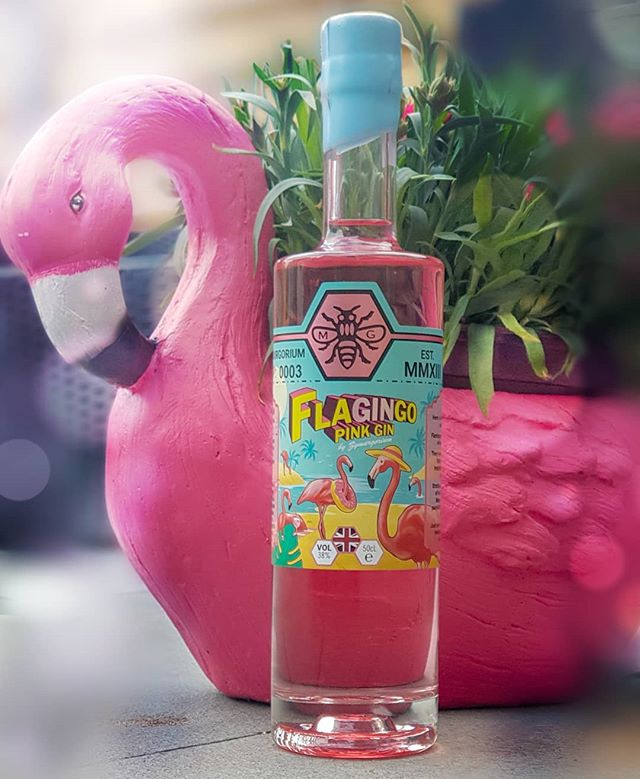 FLAGINGO! Introducing the latest epic creation from @zymurgorium . A full strength pink gin strutting in with flavours of the Caribbean 💖  #zymurgorium #gin #gins #ginoclock #ginliqueur #pink #pinkgin #design #graphicdesign #graphicdesignlife #print #printdesign #creative #illustration #illustrator #branding #logodesigner #packagingdesign #labeldesign #labeldesigner #flamingo #flagingo