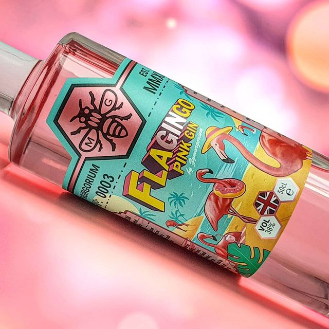 FLAGINGO! Introducing the latest epic creation from @zymurgorium . A full strength pink gin strutting in with flavours of the Caribbean 💖  #zymurgorium #gin #gins #ginoclock #ginliqueur #pink #pinkgin #design #graphicdesign #graphicdesignlife #print #printdesign #creative #illustration #illustrator #branding #logodesigner #packagingdesign #labeldesign #labeldesigner #flamingo #flagingo