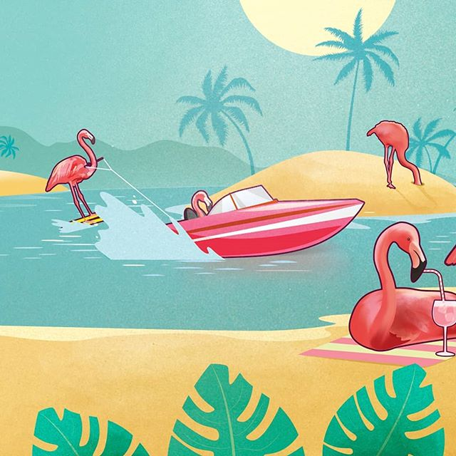 FLAGINGO! Introducing the latest epic creation from @zymurgorium . A full strength pink gin strutting in with flavours of the Caribbean 💖  #zymurgorium #gin #gins #ginoclock #ginliqueur #pink #pinkgin #design #graphicdesign #graphicdesignlife #print #printdesign #creative #illustratorsoninstagram #illustrations #illustrator #branding #logodesigner #packagingdesign #labeldesign #labeldesigner #flamingo #flagingo #beach #illustrationartists