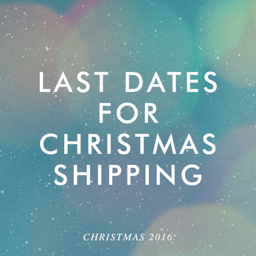 Due to demand we have now extended our Christmas order dates to Saturday December 17th. Find out more here.