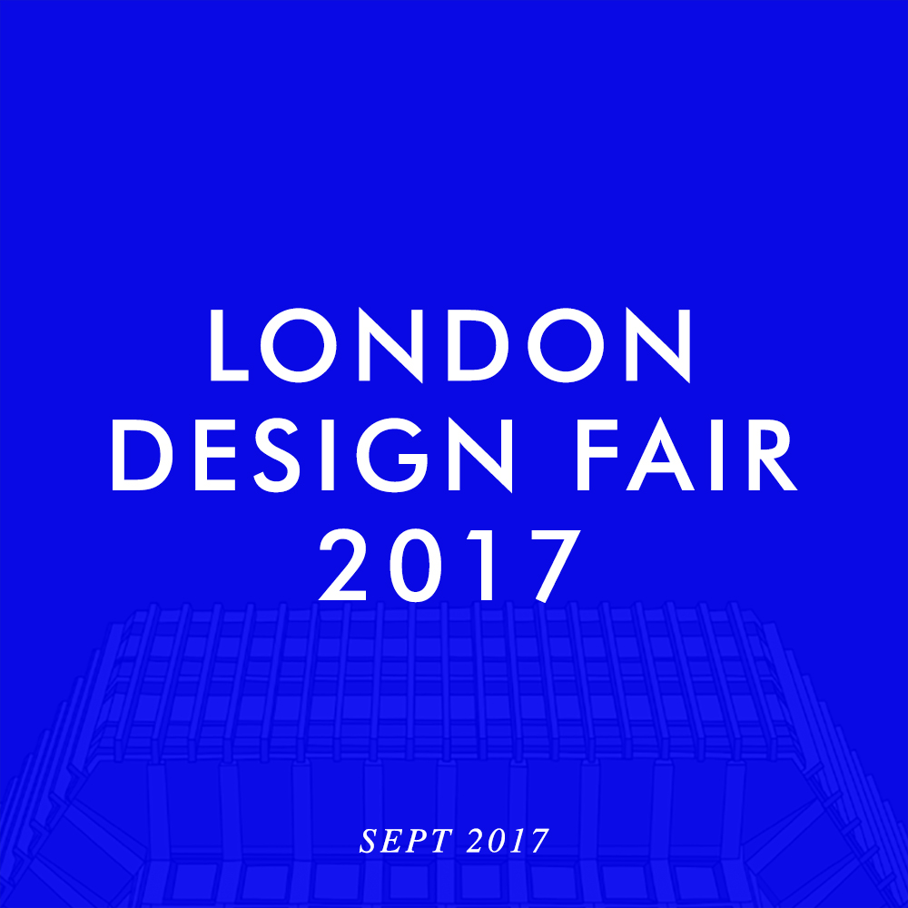 Come visit us at the London Design Fair. Sept 21 to 24th. We're at stand F08-T1.