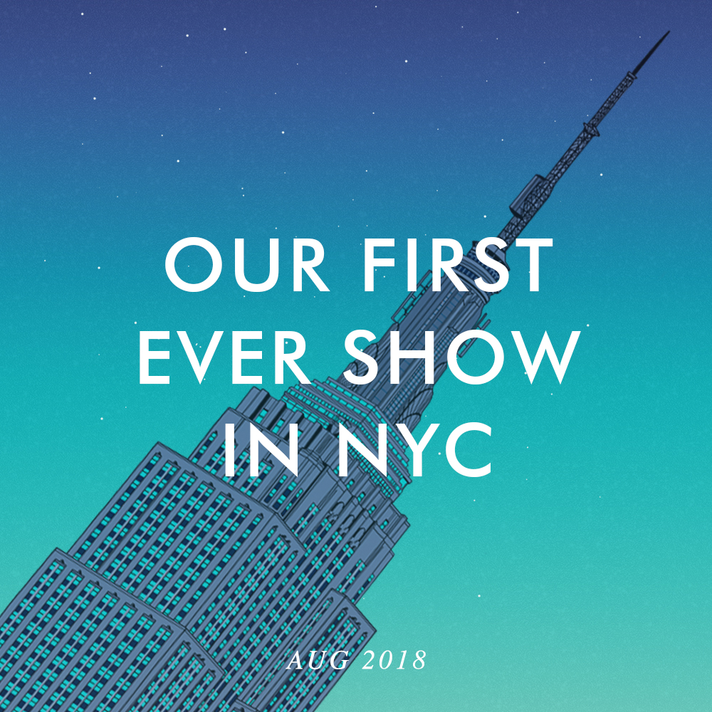 We're showcasing our work at the prestigious  NY NOW  show in the Javits Center, NYC.