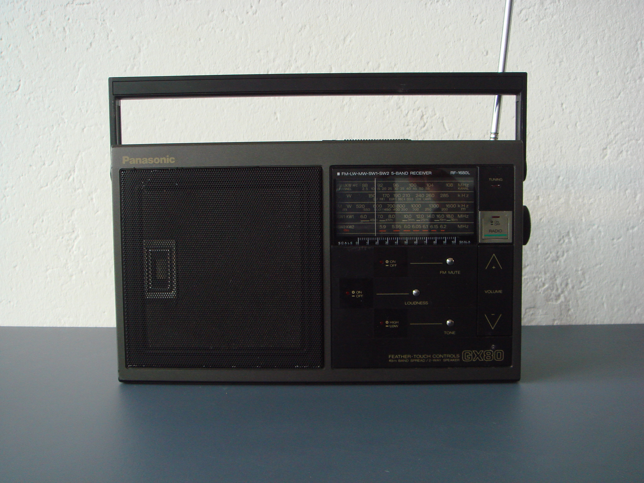 panasonic feather touch controls