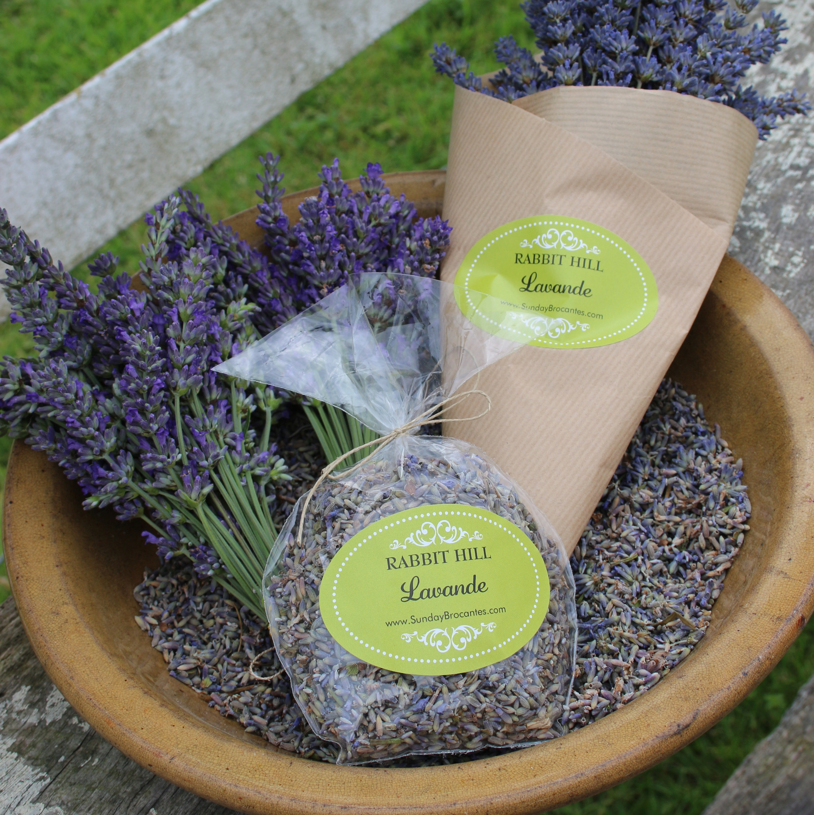 Lavender in loose bud bags for sachets and 40 stem bouquets.