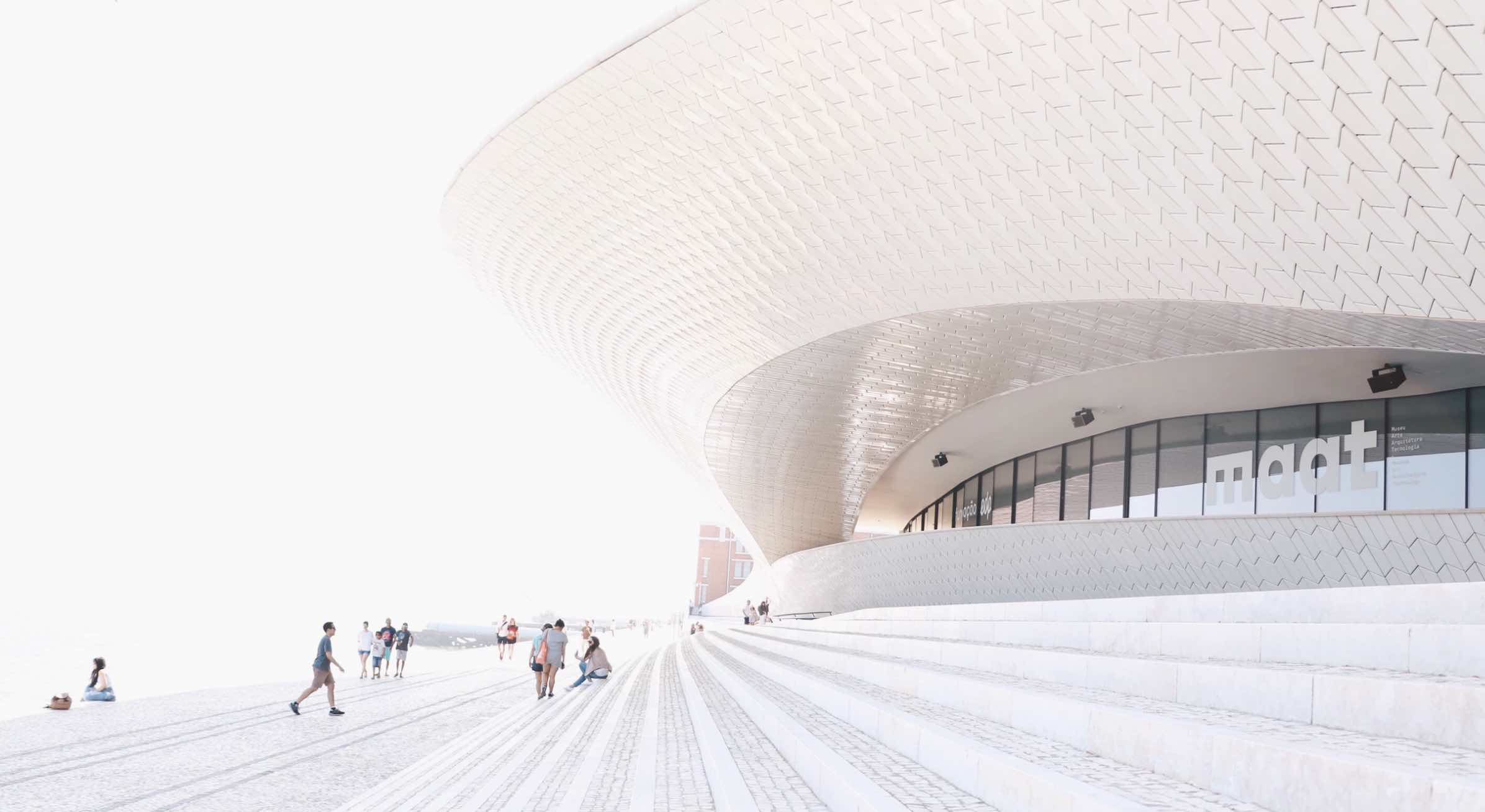 MAAT Museum in Belém's riverfront area captured by @ sdpraetere