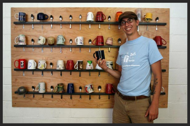 Mug wall designed by Christian Ward for the ready made 100 contest.   Link to the site.