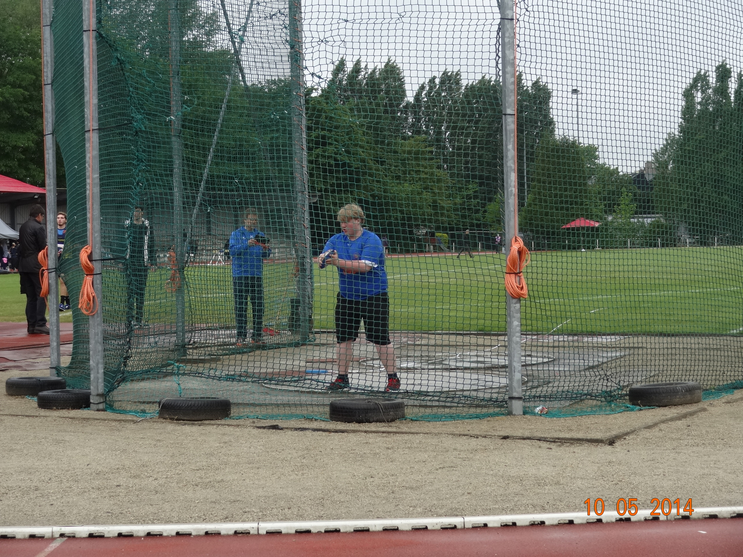 The HS discus player preparing to throw his school record.  I should note that he is also my son.