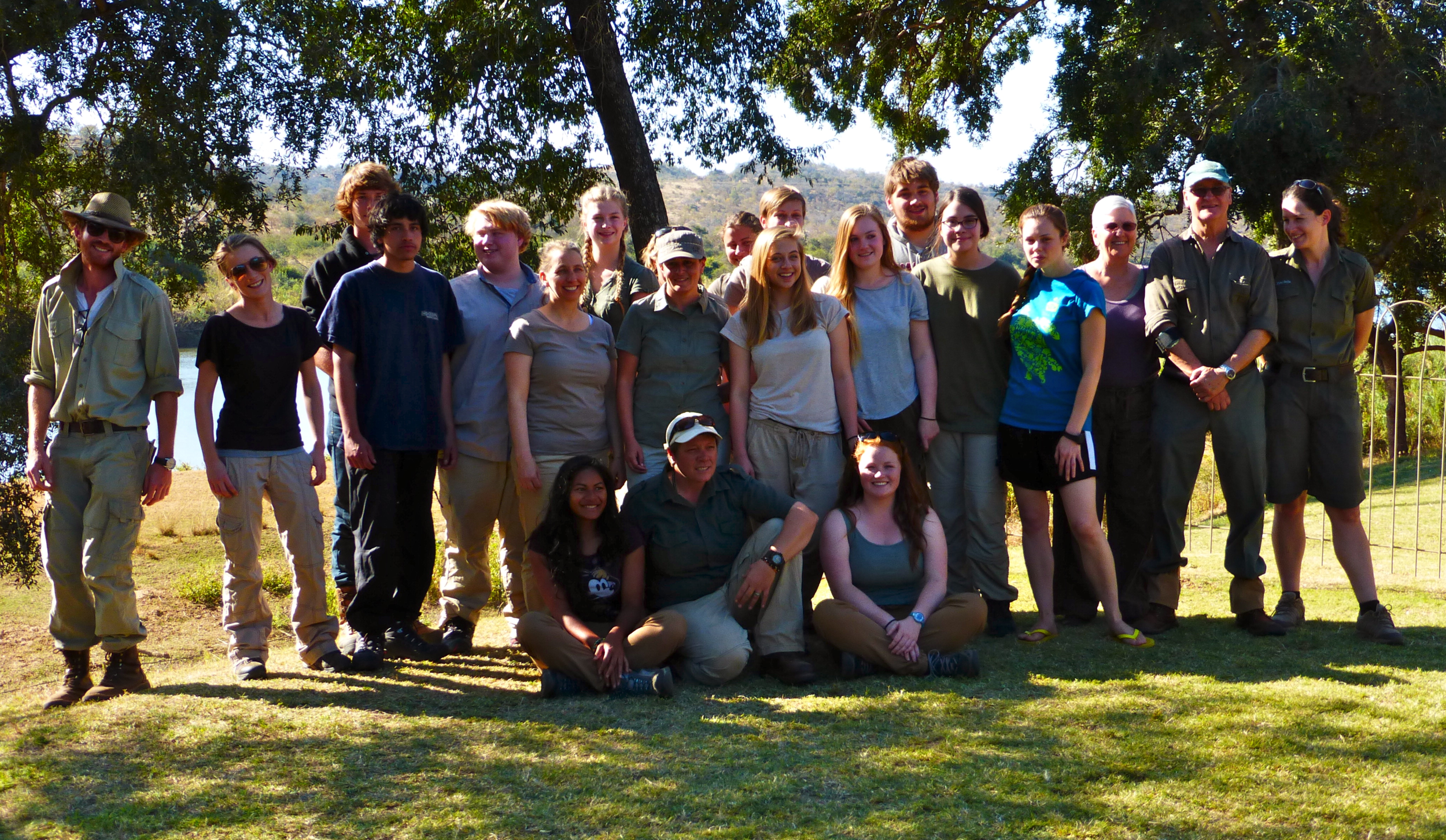 Our entire group with all the staff at Struwig.
