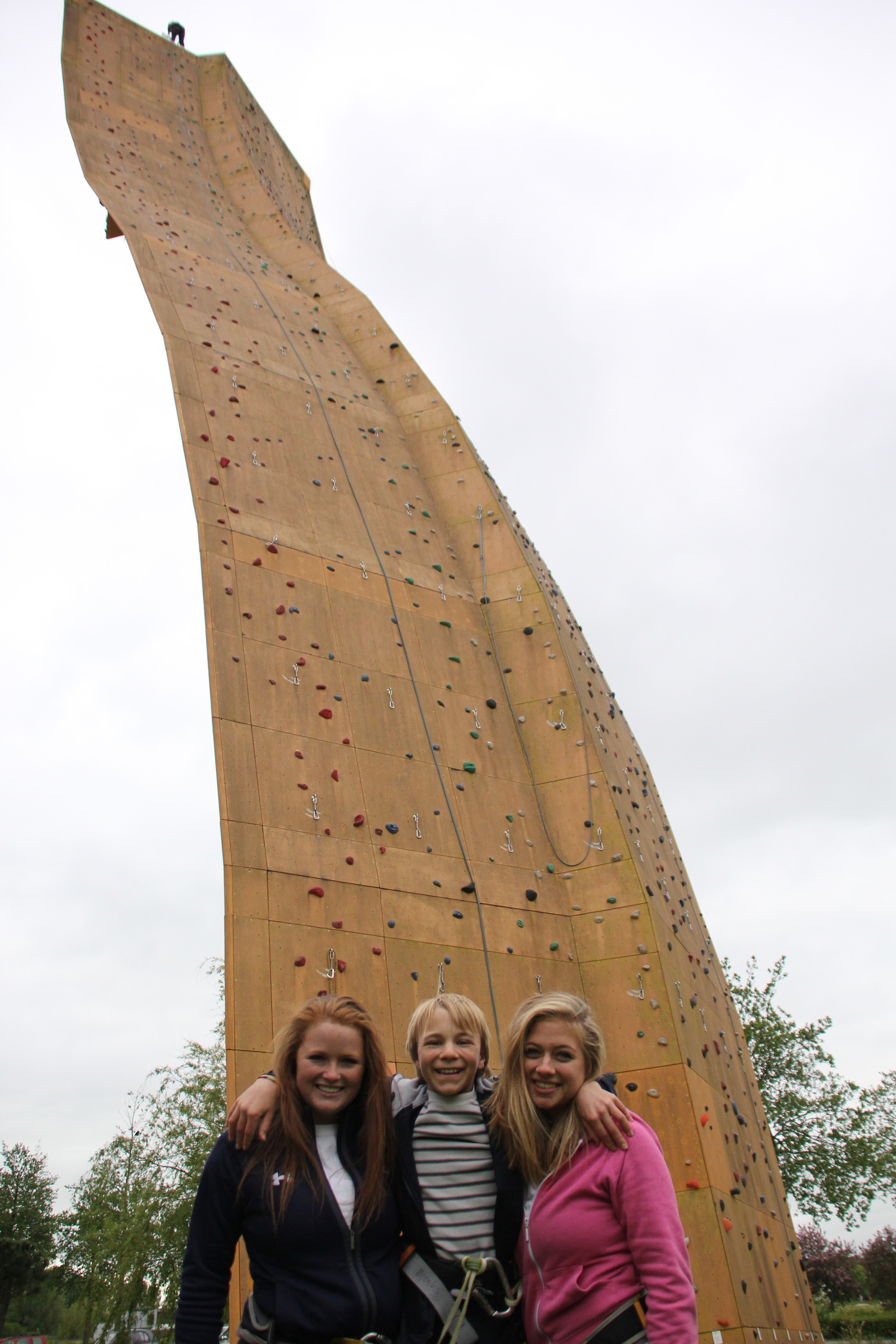 Triumphant climbers!
