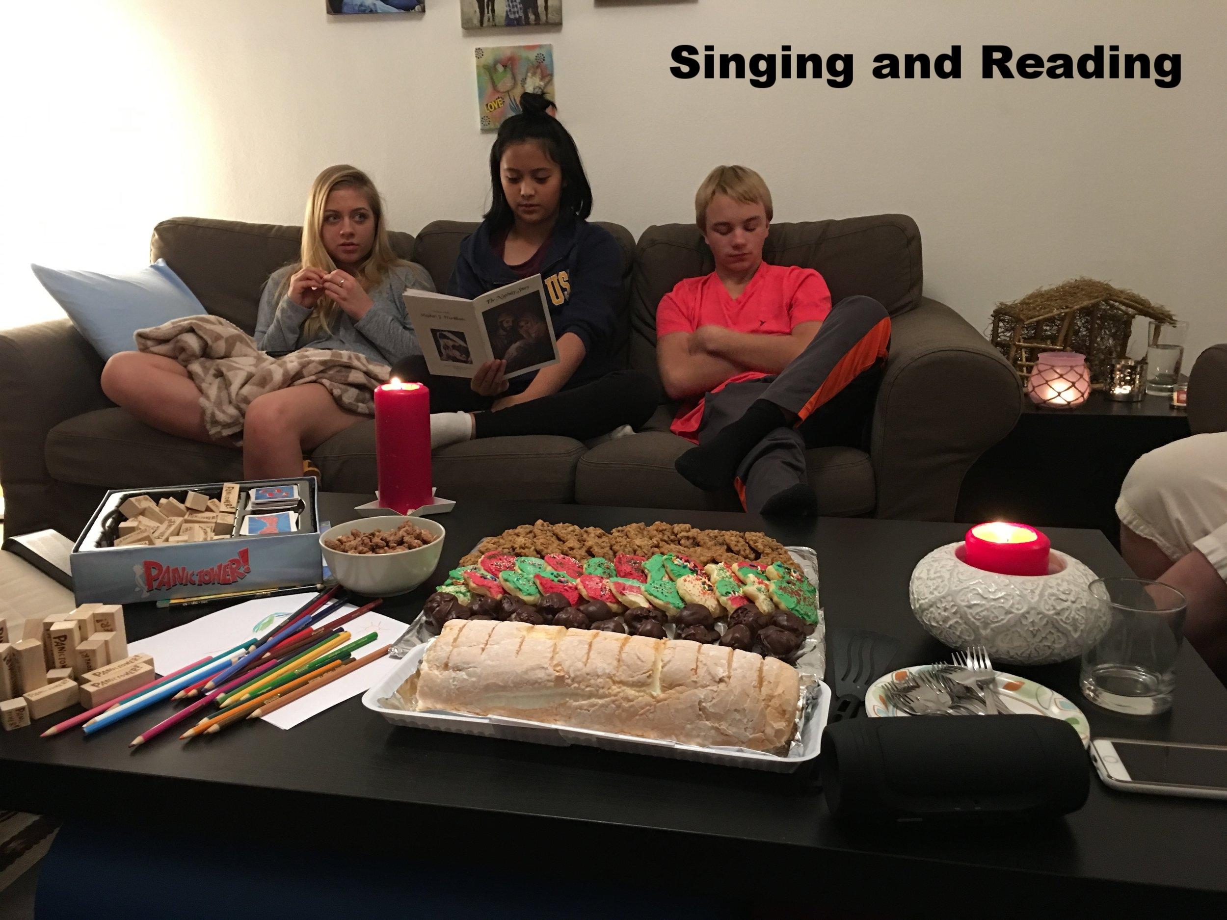 Singing/Reading