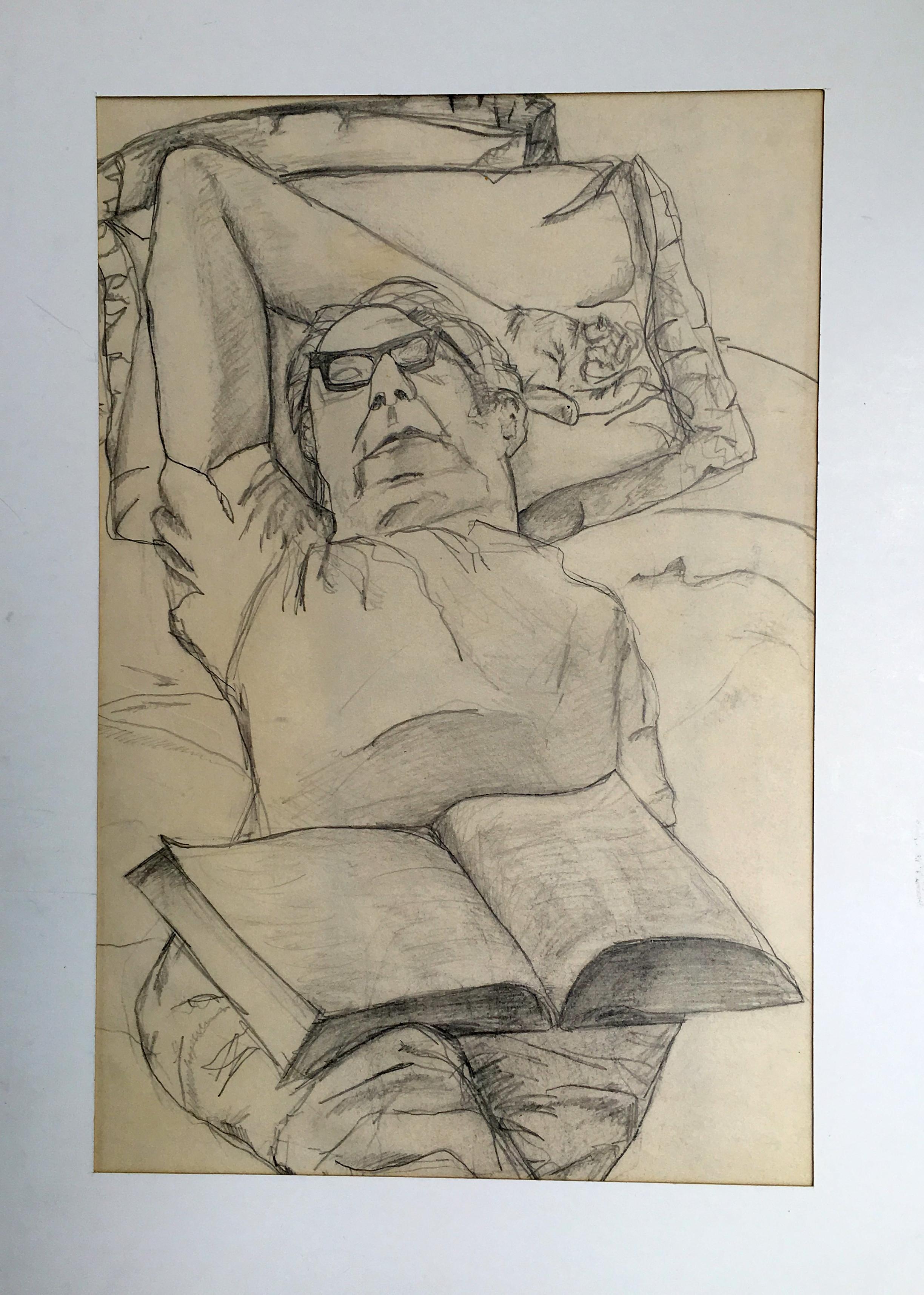 Gurton - My father sleeping, pencil.jpg