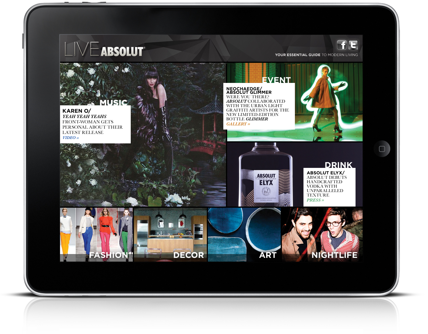 LIVEABSOLUT supplemental iPad content