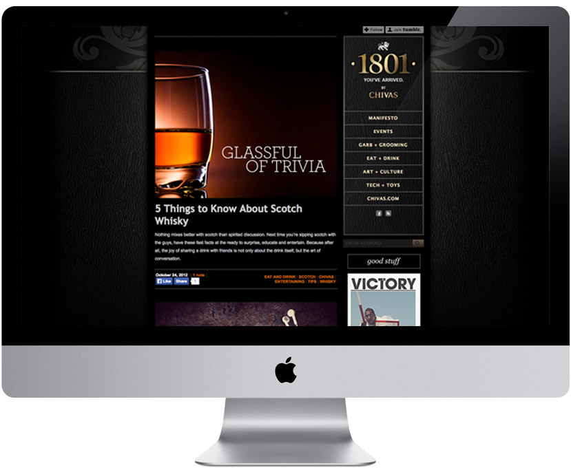 Landing page for the Chivas1801.com blog