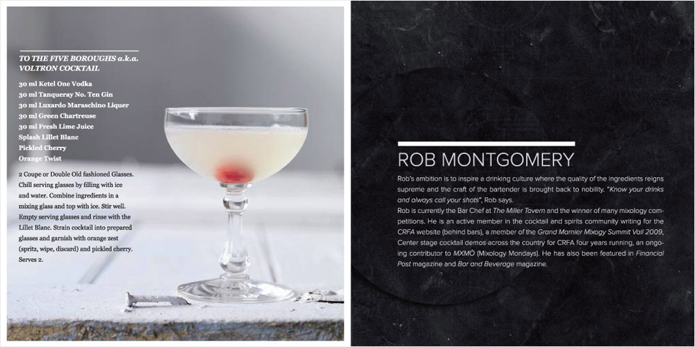 BarChef Mixology Competition book design