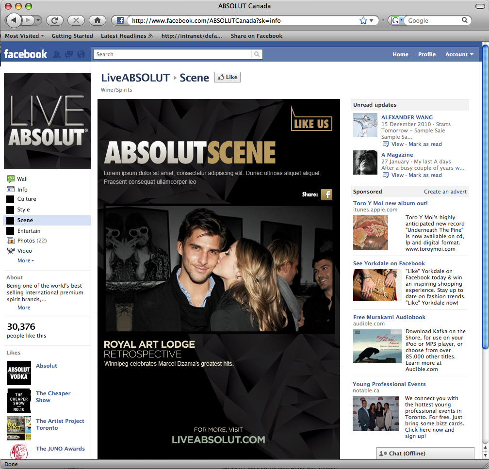 LIVE ABSOLUT Facebook Group