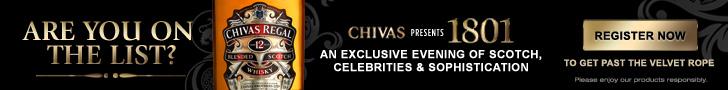 Chivas 1801 leaderboard ad