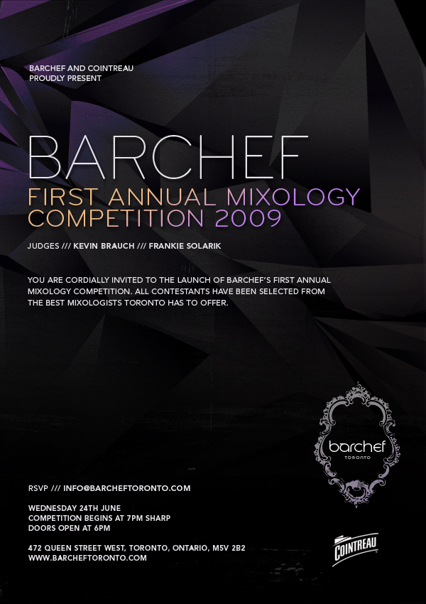 BarChef Mixology Competition 2009 poster design