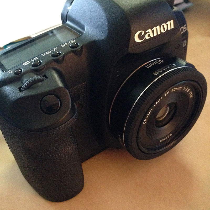 Canon 5D Mark II with 40mm pancake lens