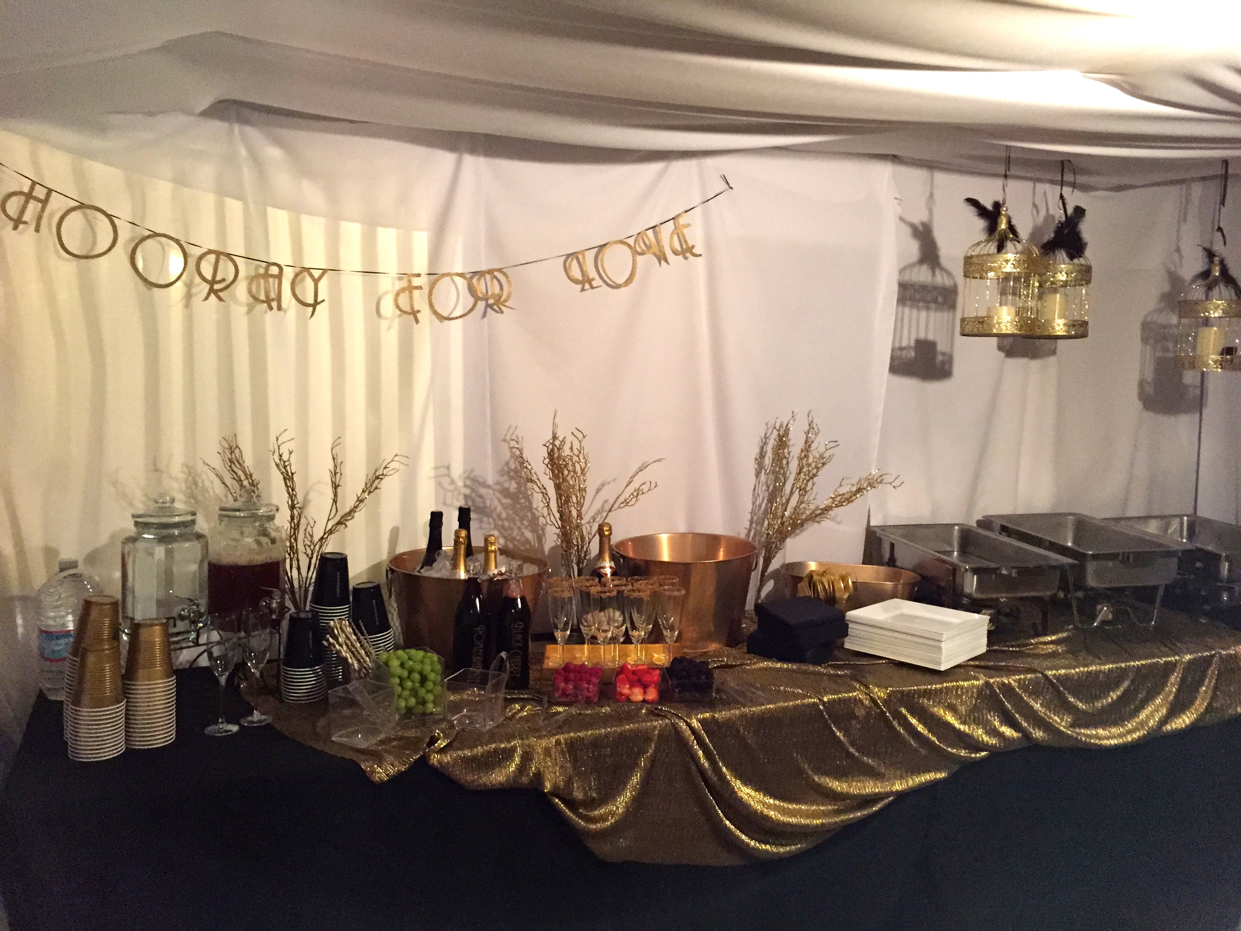 Gatsby Engagement Food Table