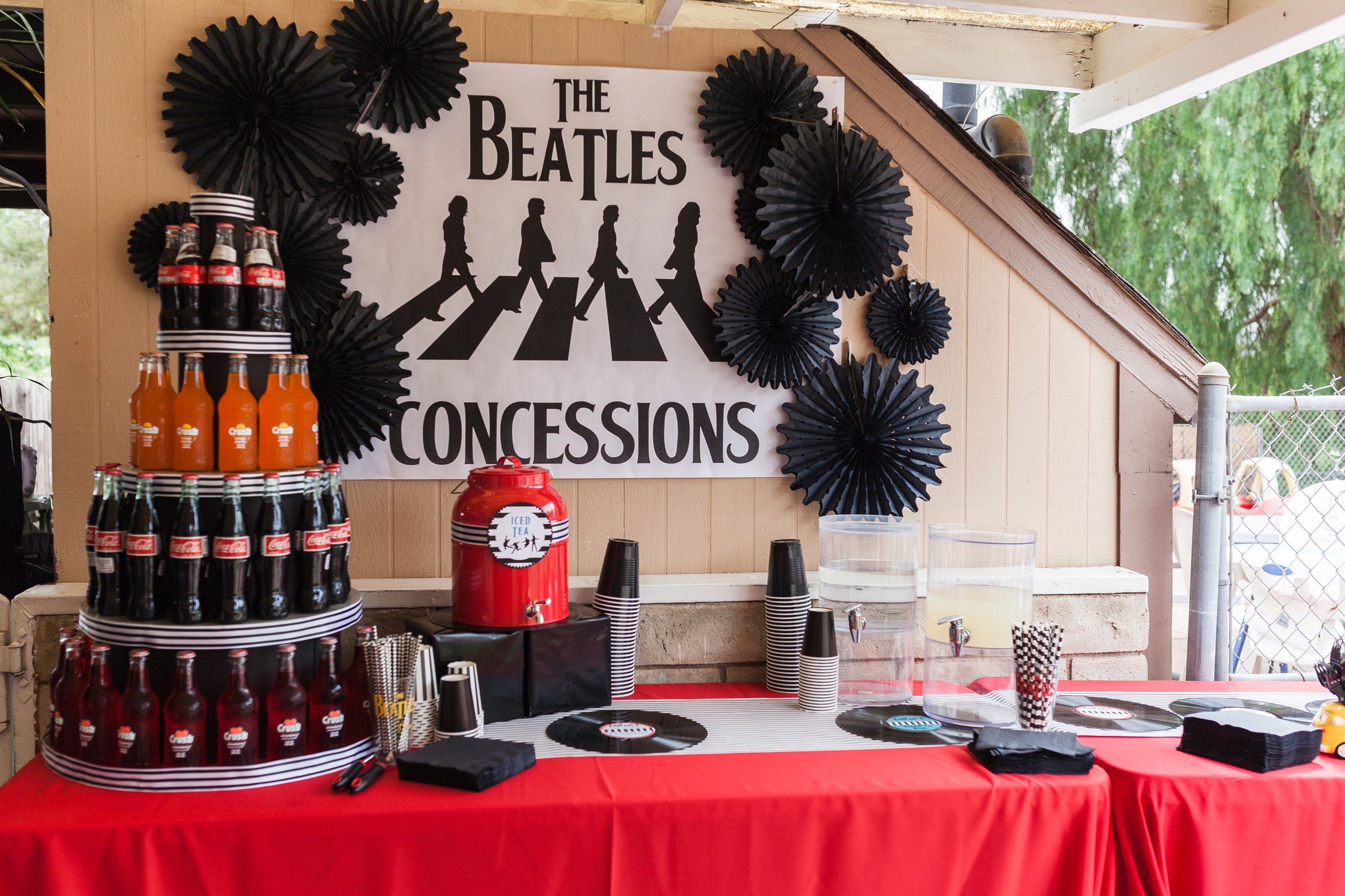 Beatles Bash Concessions Stand designed by Down Emery Lane.