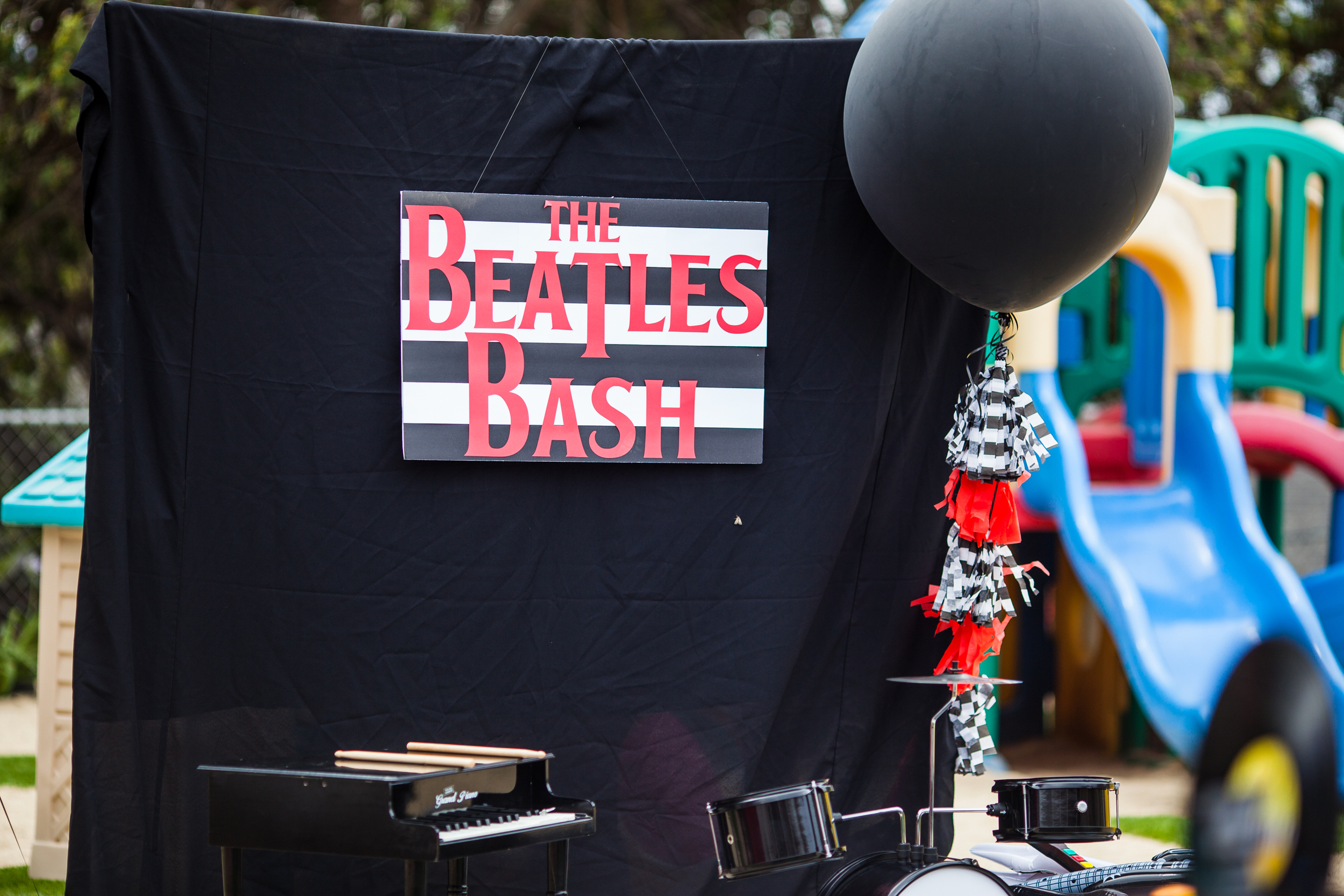 Beatles Bash stage set up by Down Emery Lane.