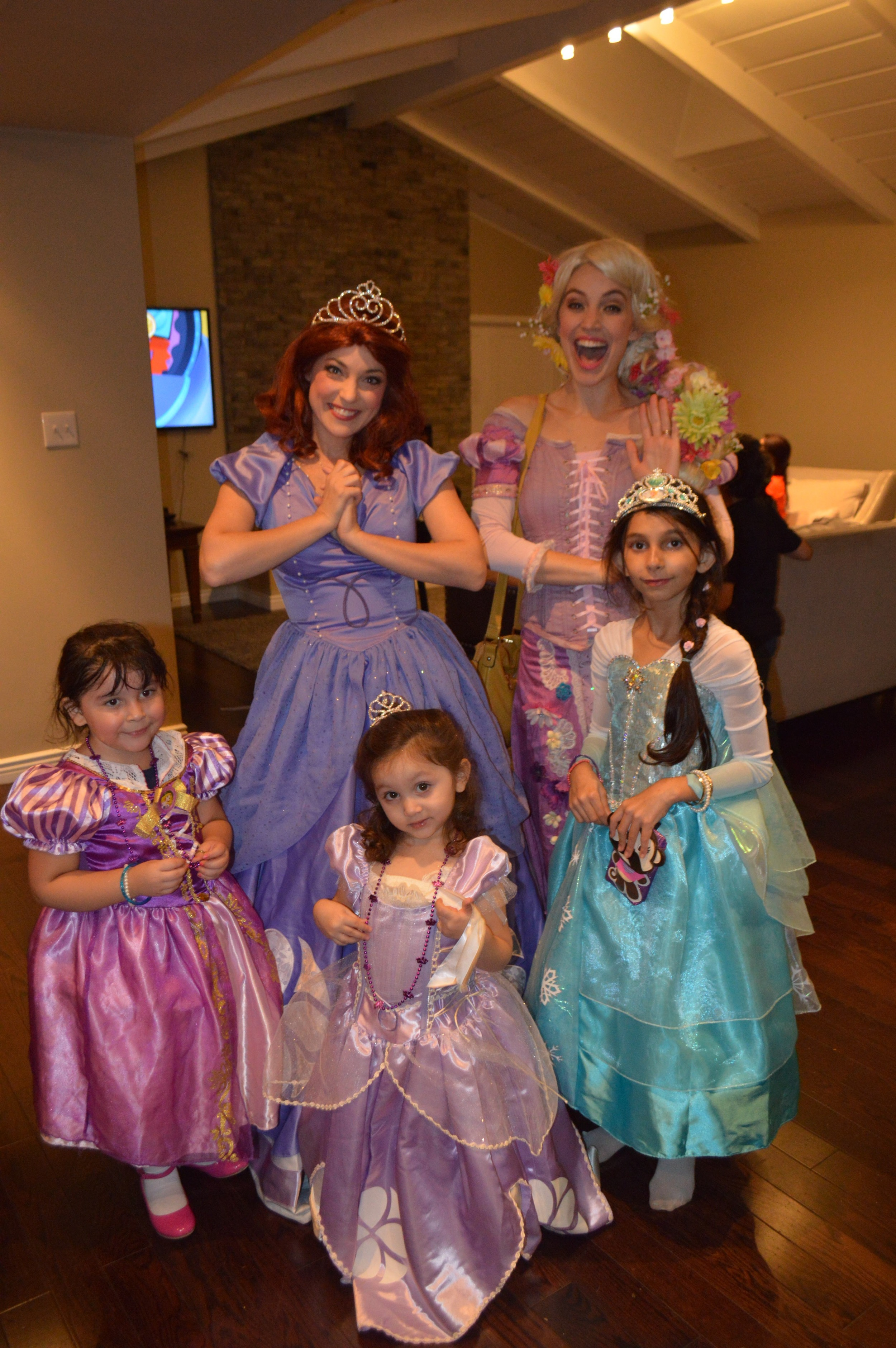 Sofia the first was the birthday girl's favorite princess and she was full of smiles all day! Sofia even joined the girls in the bounce house. Sofia provided by  Wishing Well Entertainment .