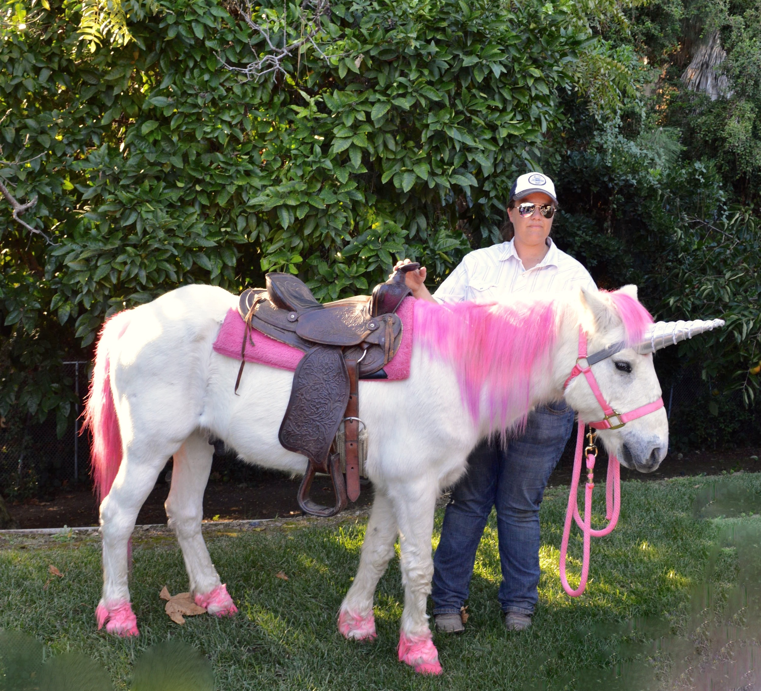"Is there anything more magical than a UNICORN!? The kids loved taking turns riding on ""Magic"" the unicorn."