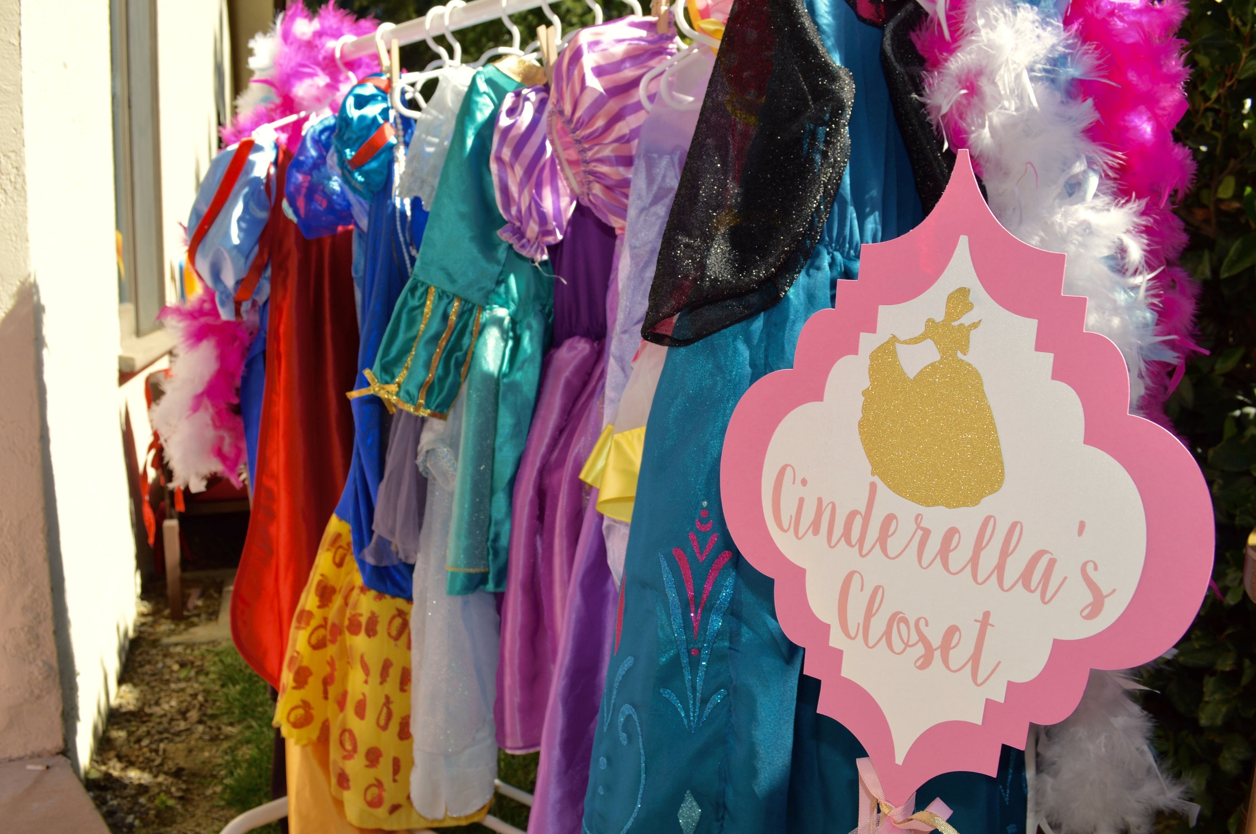 Cinderella's Closet Dress Up Station - available to rent from Down Emery Lane.