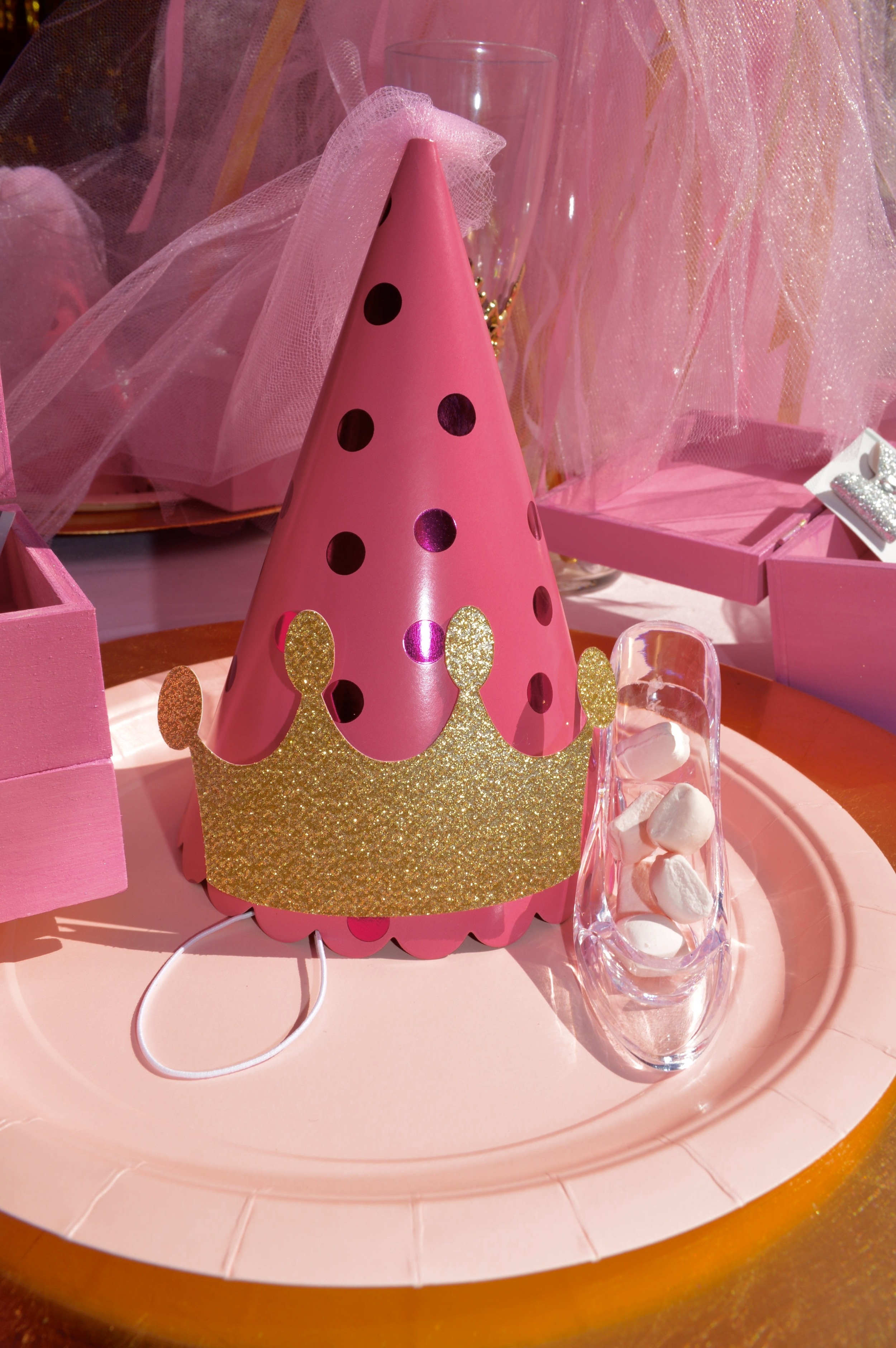 Princess hats made by Down Emery Lane and available for purchase.