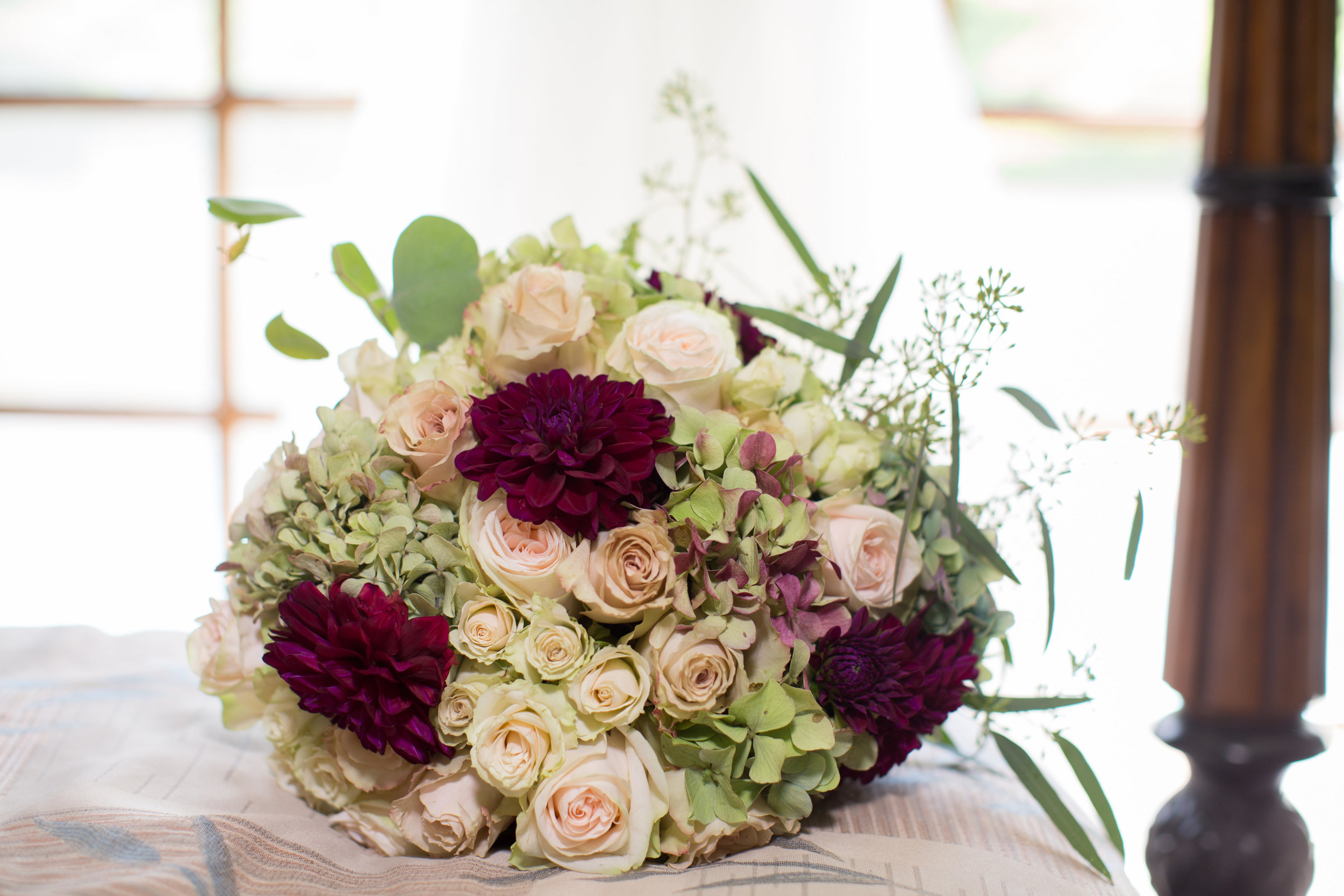 Blush & Merlot bouquet by Down Emery Lane.