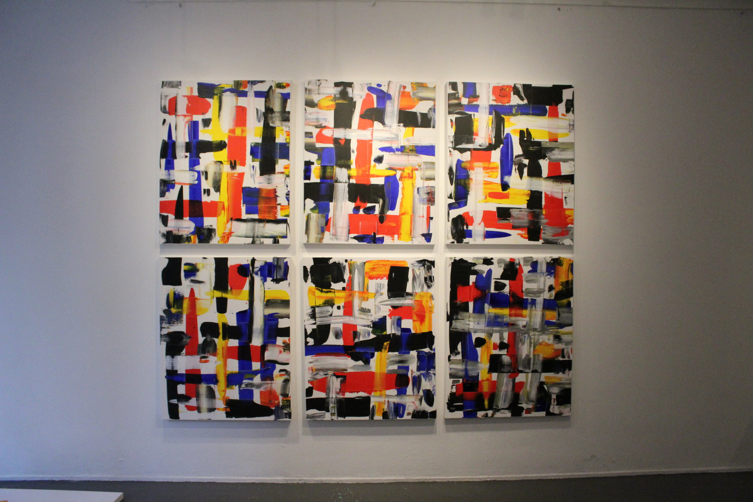 six-tych by European contemporary artist Harry van Gestel