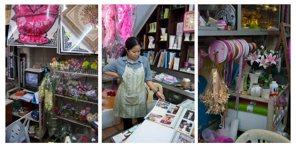 Interior of Parichat Flower Shop, Nakhon Si Thammarat City