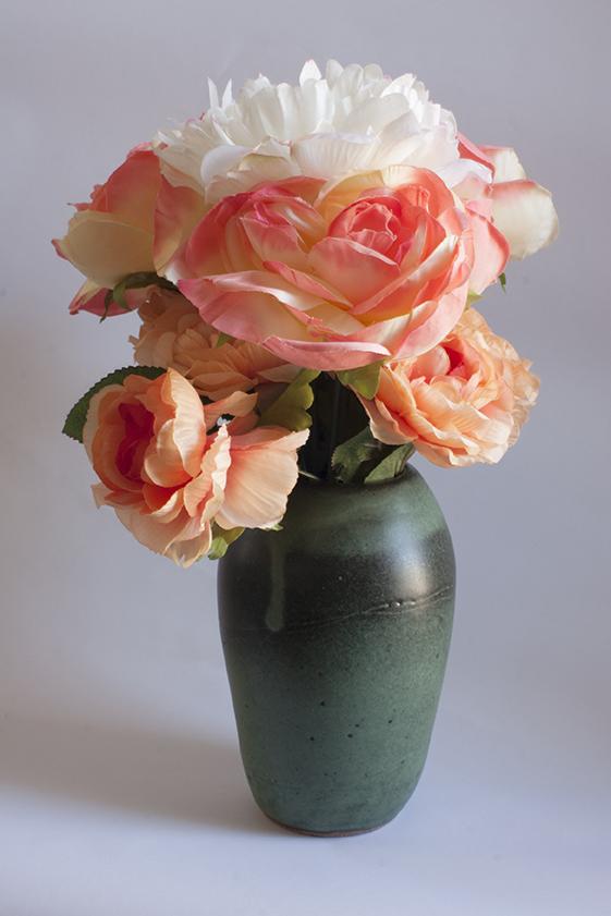 green vase with bouquet.jpg
