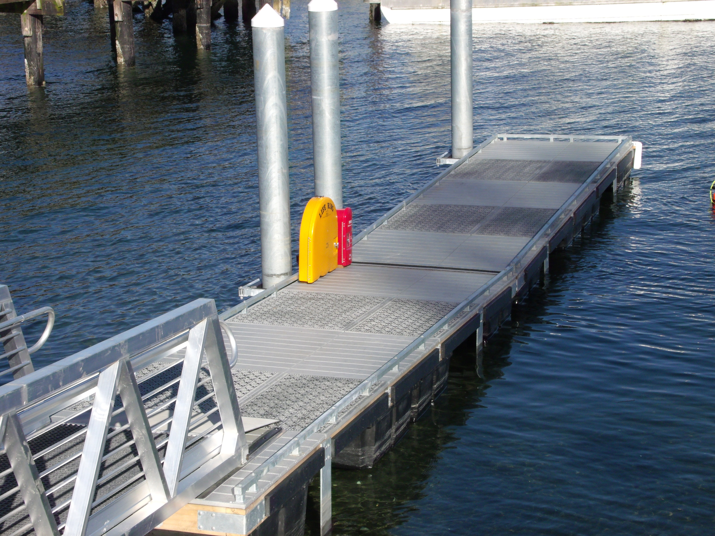 The Port of South Whidbey New Boat Ramp Dock at Langley, WA. Using Xccent Steel Dek Eco Series and Pier Series Decking. Click on the above picture to view more photos.