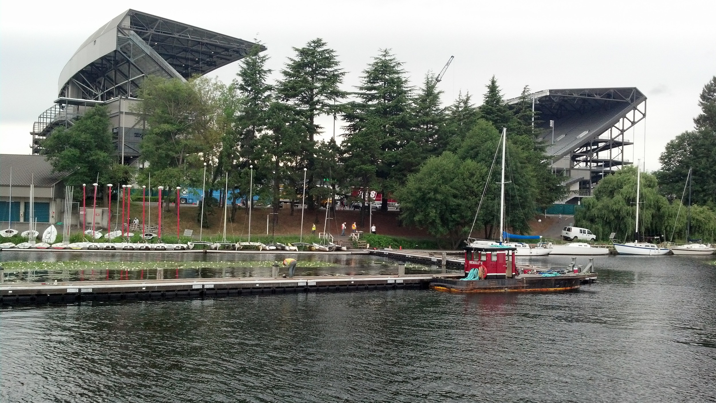 University of Washington Husky Stadium Visitor Dock Seattle, WA Designed by Reid Middleton Engineers of Everett Washington. Construction by Redside Construction Port Gamble, WA. Click on the above picture to see more.