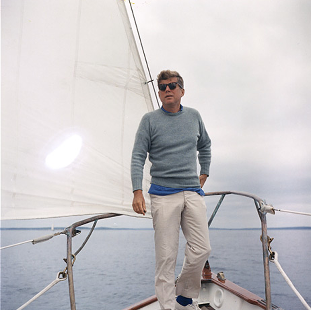 This is why you wear khakis!                                               Courtesy Kennedy Presidential Library
