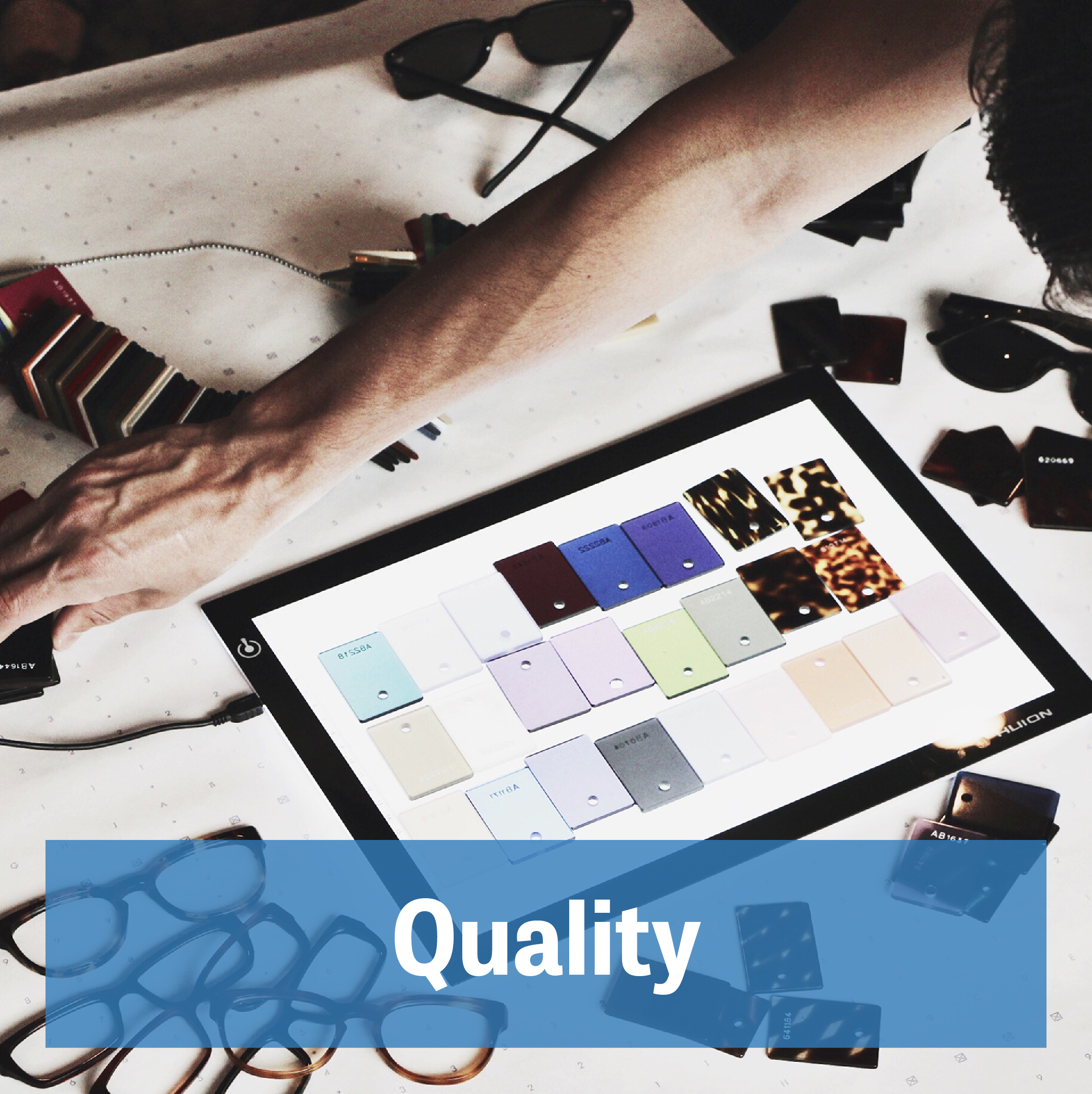 """Despite the  subjectivity of quality, everyone recognizes high quality when they see it. Here's what that means to us:   Accountability    Everything we say, do, or think is a direct reflection of J. Martasand and all those associated with the brand. That means you, too. But don't worry, we'll make you proud.   Simplicity   """"Keep it simple, stupid"""" - sometimes it's that easy. Stuffy design and marketing fluff detract us from what's important: At J. Martasand it's quality American-made sunglasses handcrafted with pride."""