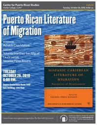 Forum Puerto Rican Literature of Migration