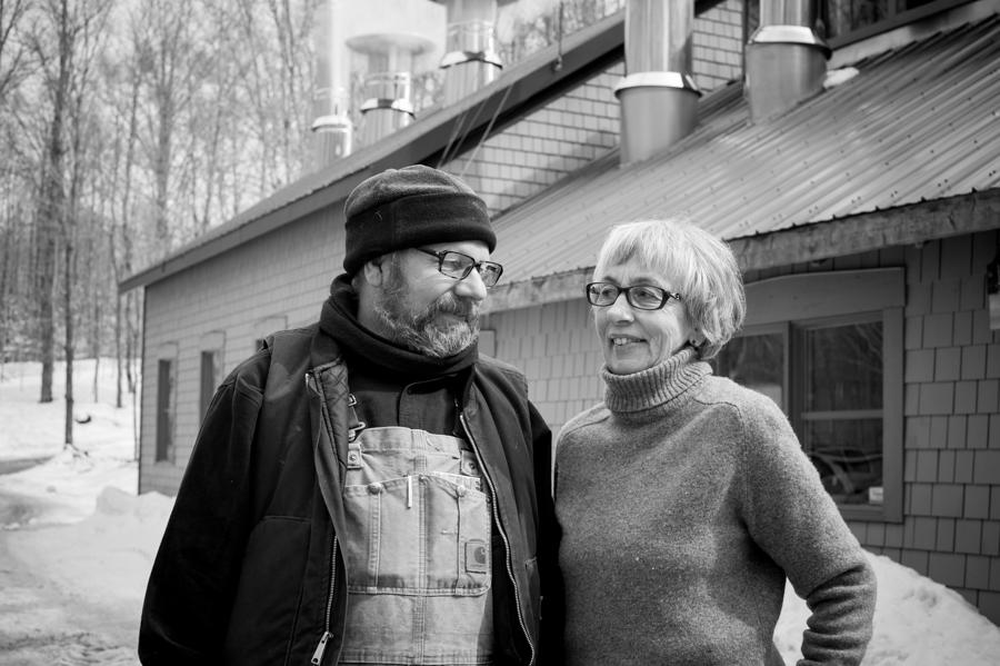 David & Linda of Cosman & Webb Townships Organic. Maple Syrup Producers.
