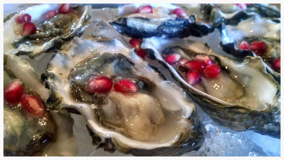 Pomegranate Oysters a perfect Romantic Recipe by Lt!