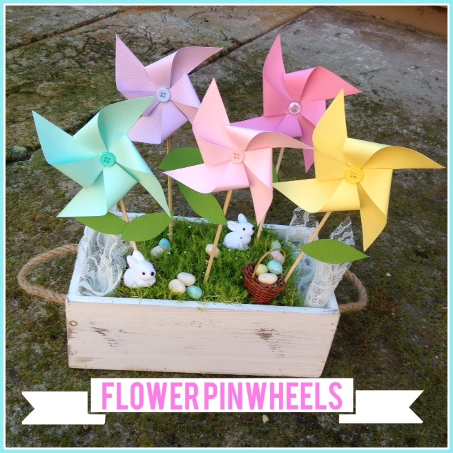 Floral Easter Pinwheel