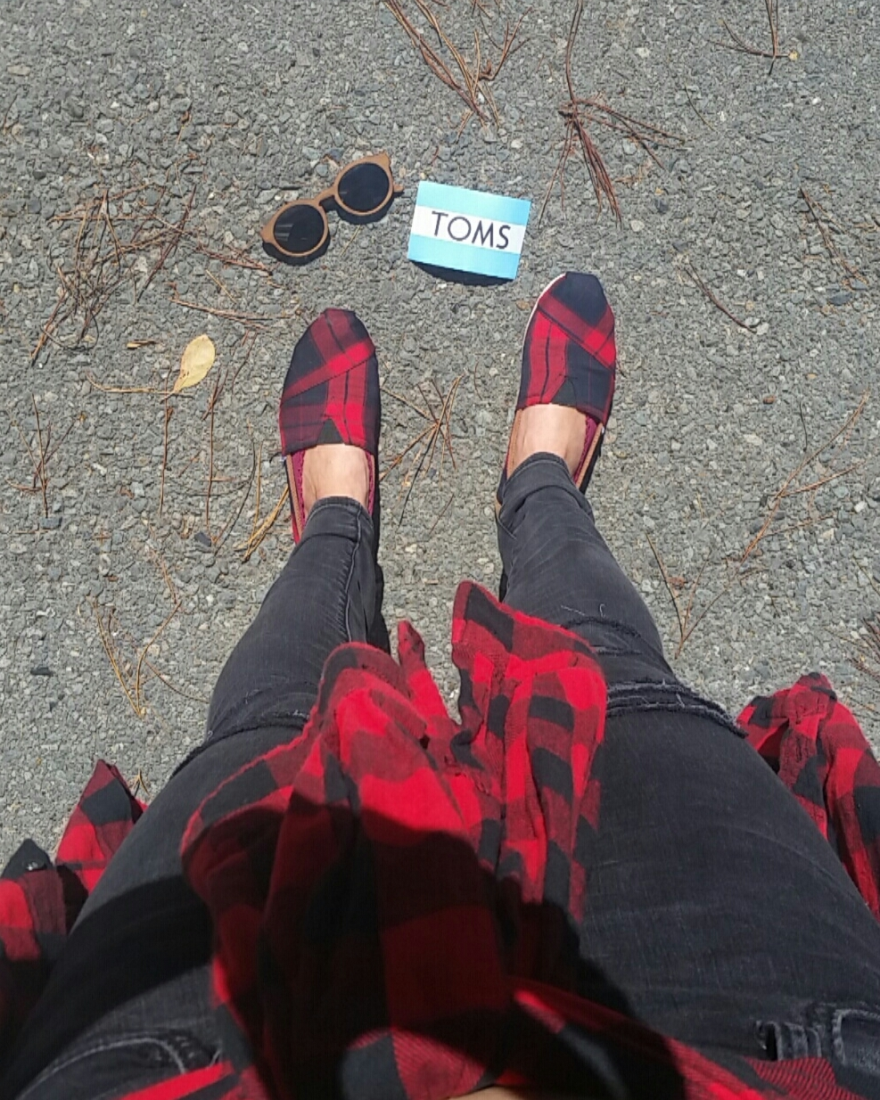 Red Plaid Toms Style by LT