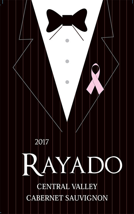 "Rayado Cabernet Sauvignon - Sip With A Purpose""Traveling Vineyard is donating one dollar from the sale of each full-price bottle of Rayado to Living Beyond Breast Cancer—an organization connecting patients and families to trusted breast cancer information and a community of support.""""Herbaceous black earth fruit nose over toasted plank, baker's chocolate & black earth; with smoke & black pepper touches. Integrated, balanced & concentrated black fruit over the nose flavors, lengthy finish. Juicy, fruity, smooth & quaffable as a burgers-on-the-grill red, or with beef stew and Italian red sauce dishes."""