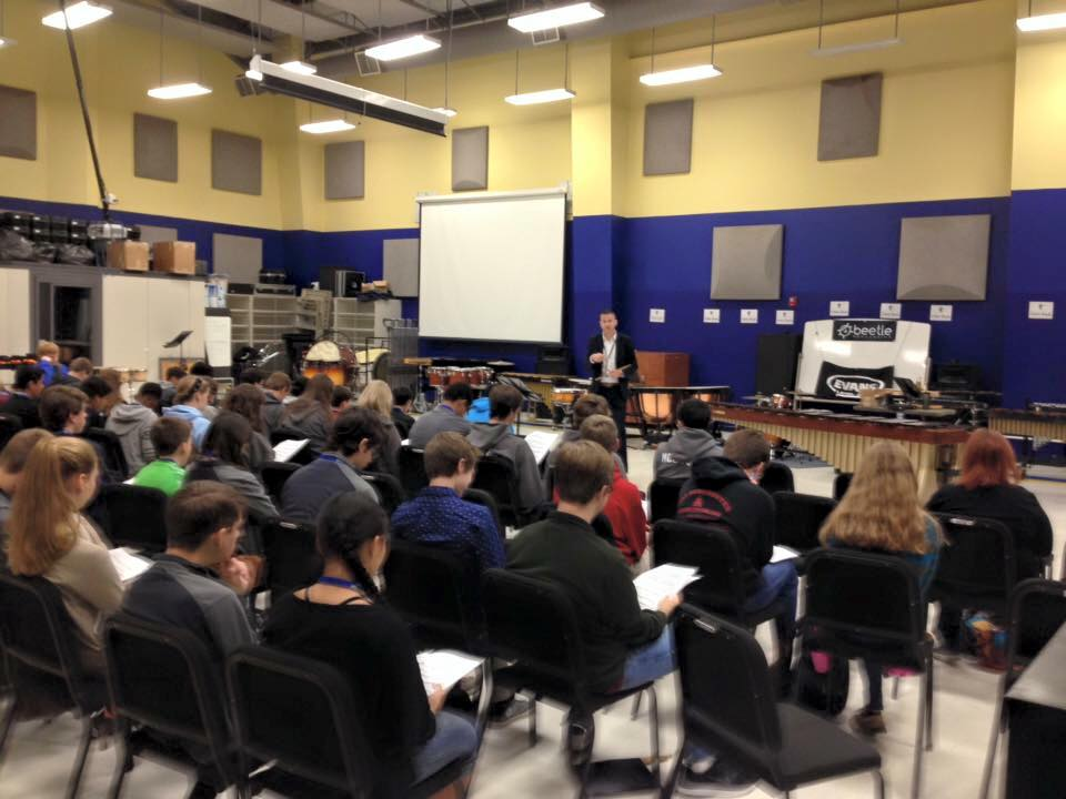 Snare drum masterclass with Dr. Haldeman